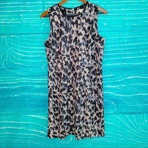 Loft Blue & Gray Shift Dress size 10